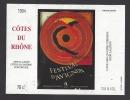 Etiquette De Vin Côtes Du Rhône  -  49 ème  Festival D´Avignon Du 7 Au 30/07 1995 - Etiketten