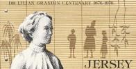 """1976 - Jersey - Dr Lilian Grandin  Centenary  -   Post Office  Etat """" Luxe"""" - Jersey"""