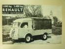 PUB  RENAULT  (Camionnette 1000kg  /  Camion Léger  1400kg)  (vers 1950) - Publicités