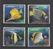 Tokelau 1995 Yvert 213/216 **  faune poissons des recifs - fish pesci fisch pescado