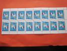 BLOC DE 16 VIGNETTES TETE-BECHE FRANCE 1968 GRENOBLE Xé JEUX OLYMPIQUE D´HIVER MNH**NEUF **VOIR GOMME VERSO ERINNOPHILIE - Commemorative Labels