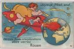 Carte Postale à Systéme - Joyeux Week End De Notre Fusée Interplanétaire Vous Verrez ROUEN -     SIRIUS - Rouen