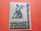 SUISSE GENEVE 12-13-14-15- AOUT 1934 VIGNETTE CONCOURS INTERNATIONAL DE MUSIQUE JOUEUR DE COR  HELVETIA ERINNOPHILIE - Suisse