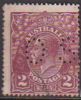Australia 1918-24 Single Watermark King George V, Perforated Small OS, 2d Brown Used