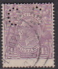 Australia 1918-24 Single Watermark King George V, Perforated Small OS, Four and Half Penny Violet Used