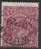 Australia 1926-28 Small Multiple Watermark perf 14 King George V, Perforated Small OS, 2d Brown Used O92