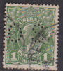 Australia 1931-36 Small Multiple Watermark perf 13.5 x 12.5 King George V, Perforated Small OS, 1d Green Used O98