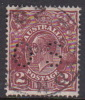Australia 1931-36 Small Multiple Watermark perf 13.5 x 12.5 King George V, Perforated Small OS, 2d Brown Used O103