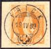 Heimat AG Frick 1889-04-19 Voll-O Briefstk. Zu#66B Stehende H. - Oblitérés