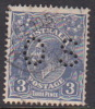 Australia 1931-36 Small Multiple Watermark perf 13.5 x 12.5 King George V, Perforated Small OS, 3d Blue O106