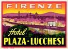 3 Hotel Labels ITALY ITALIE   FIRENZE   FLORENCE   Plaza Lucchesi  Porta Rossa Albergio delle Nazioni