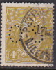 Australia 1931-36 Small Multiple Watermark perf 13.5x12.5 King George V, Perforated Small OS, 4d Olive Used O108