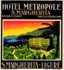 6 HOTEL Labels   ITALY ITALIE RIVIERA di LEVANTE  ADRIATICO    FIORI Alassio  Bordighera