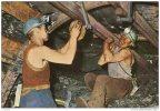 LA MINE EN ACTIVITE POSE DU SOUTENEMENT PROVISOIRE (LOT AA4) - Bergbau