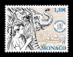 Monaco 2014 Mih. 3197 Princess Stéphanie Of Monaco Baby & Nepal Association. Fauna. Elephants MNH ** - Ungebraucht