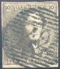 N°1 - EPAULETTE 10 Centimes Brune, 4 Marges, Obl. P.42 FONTAINE-l´EVEQUE + Variété.  Signé WOLFF - 10828 - 1849 Epaulettes