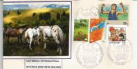 Belle Lettre D´Australie,  CHEVAUX,  Adressée En Nouvelle-Zélande - Horses