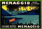 4 HOTEL LABELS ITALY ITALIE LAGO DI COMO Lake Como LAC DE COME