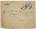 MARSEILLE PREFECTURE Bouches Du Rhone Pour CHICAGO, USA Sur Enveloppe SEMEUSE. N. AMARGGI. - Marcophilie (Lettres)