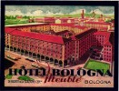 3 HOTEL LABELS ITALY ITALIE  BOLOGNA Bologne HOTEL MAJESTIC BAGLIONI  HOTEL ROMA - Hotel Labels