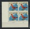 EC - 1958 - 982 - BLOCK OF 4- VÖGEL - BIRDS - PAJAROS - ECUADOR - EQUATEUR - MNH -** - POSTFRISCH - Equateur