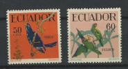 EC - 1958 - 983+984 - - VÖGEL - BIRDS - PAJAROS - ECUADOR - EQUATEUR - MNH -** - POSTFRISCH - Equateur