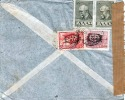Griechenland 1937? - 4 Fach Frankierung Auf FP-Brief, Marken Mit Überdruck, Zensurstempel - Griechenland