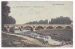 Chalon Sur Saone - Pont Du Faux-Lit (pêcheurs) Circulé 1905, Deux Accrocs En Relief Sous La Légende, Colorisée - Chalon Sur Saone