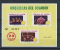 EC - 1980 -BLOCK 100 - ORCHIDEEN - ORQUIDEAS - ECUADOR - EQUATEUR - MNH -** -POSTFRISCH - Equateur
