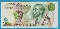 GHANA 2 Cedis  2.01.1977  Serie Q1  P# 14c  Fieldwork - Ghana