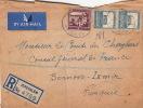 Lettre CaD Registered Jerusalem Pour La Turquie 1947 - Palestine