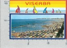 CARTOLINA VG ITALIA - VISERBA - RIMINI - La Spiaggia - 10 X 15 - ANNULLO 1989 - Rimini
