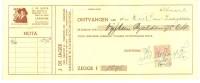 NEDERLAND * FACTUUR Uit 1939 Van ALKMAAR Naar ZAANDAM  + FISCAL  BELASTING ZEGEL 10 CENT (9971o) - Fiscale Zegels