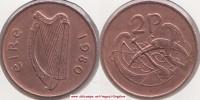 Irlanda 2 Pence 1980 KM#21 - Used - Irlanda
