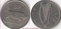 Irlanda 5 Pence 1976 KM#22 - Used - Irlanda