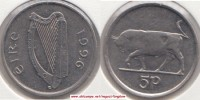 Irlanda 5 Pence 1996 KM#28 - Used - Irlanda