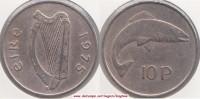 Irlanda  10 Pence 1975 KM#23 - Used - Irlanda