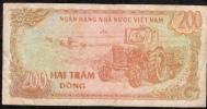 VIETNAM  P100b  200  DONG   1987 Large Serial # Digits FINE NO P.h. ! - Vietnam