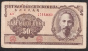 VIETNAM  P61b  50  DONG   1951  FINE - Vietnam