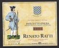 Etiquette De Vin Dolcetto  D´Alba  -  Batallon D'Alba 1703  - Thème Militaire - Renato Ratti à La Morra Italie - Antiche Uniformi