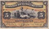 BILLETE DEL BANCO ESPAÑOL EN CUBA DE 5 PESOS DEL AÑO 1896 CON SELLO PLATA (BANKNOTE) - [ 1] …-1931 : Primeros Billetes (Banco De España)