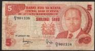 KENYA  P119a  5  SHILLINGS1981      FINE NO P.h. ! - Kenya