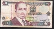 KENYA  P36a2 50 SHILLINGS   1996     VF  NO P.h. ! - Kenia