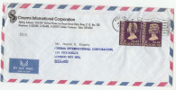 1976 Air Mail HONG KONG Stamps COVER ADVERT CINEMA INTERNATIONAL CO  To CINEMA PICADILLY GB   Movie Film Stamps China - Hong Kong (...-1997)