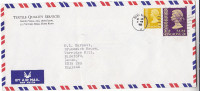 1980 Air Mail HONG KONG  COVER From TEXTILE QUALITY Services 70c $ 1.30 Stamps To GB China - Covers & Documents