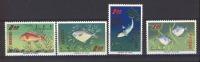 00524   -  Taiwan  :   Mi 576-79  **   Poisson - Fish - 1945-... República De China