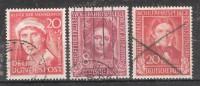 RFA / BRD , 1949 - 1951: 3 Timbres Surtaxe WOHLFAHRTSPFLEGE , Yvert N° 3, 5 & 31 Obl TB , Cote 55 Euros - Gebraucht