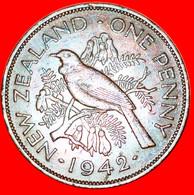 ★BIRD: NEW ZEALAND ★ PENNY 1942! KEY DATE! LOW START★NO RESERVE!  George VI (1937-1952) - Nouvelle-Zélande