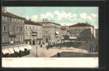 AK Fiume, Piazza Elisabetta Mit Ladengeschäften - Croatie