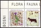 BOSNIA & H.- MOSTAR - DOGS - FLOWERS - **MNH - 1994 - Honden